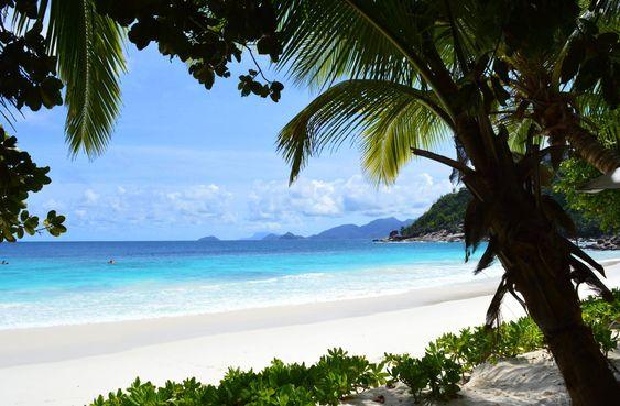 Beach at the Four Seasons on Mahe Island