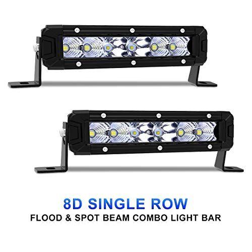 Rigidhorse Led Light Bar 2pcs 7 Inch 36w Single Row Flood Spot Beam Combo 8000lm Off Road Led Light Bar Driving Ligh Led Light Bars Off Road Led Lights Beams