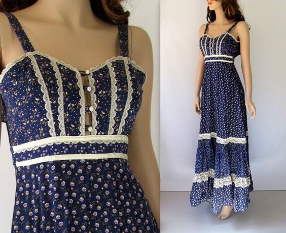Gunne Sax Dress / 70's Gunne Sax Dress / by BeatniksVintage, $75.00