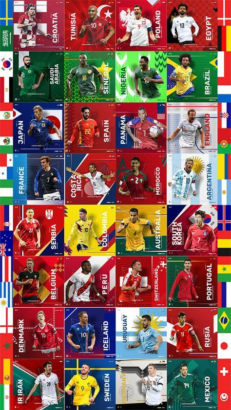 Fifa World Cup Rusia 2018 Lowpoly Poster Collection On Behance Soccer World World Cup Fifa World Cup