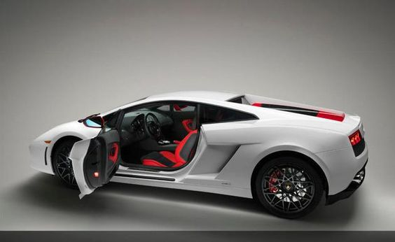The Lamborghini Gallardo LP560-4 Bianco Rosso boasts 552 horsepowers coming from 5.2 liter V10 engine. The supercar is priced at $320,100 US.