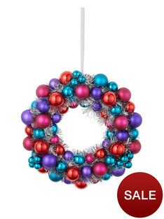bauble-christmas-wreath-with-tinsel-blueredpink