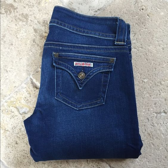 "Hudson Jeans Hudson Bootcut Jeans. Size 28. Dark wash. 34"" inseam. 98.5% cotton/1.5% Lycra. EXCELLENT CONDITION - LIKE NEW!!! No trades Hudson Jeans Jeans Boot Cut"
