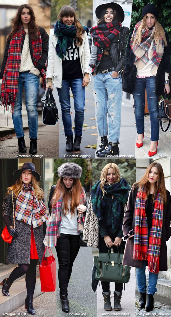 How to Wear your Tartan Scarf: