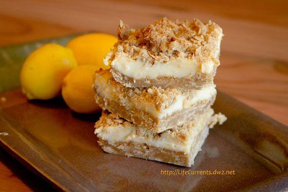 Oatmeal Lemon Crème Bars