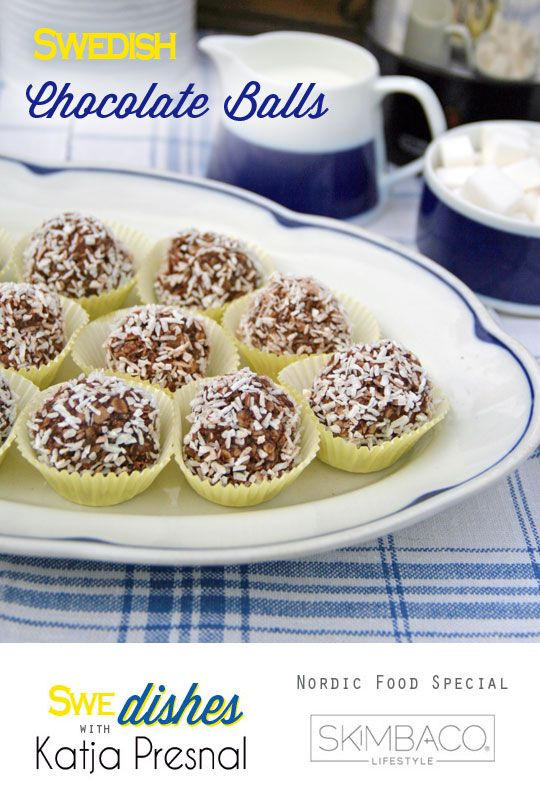 Swedish Chocolate Coconut Balls Recipe as seen on http://www.skimbacolifestyle.com