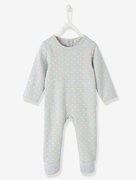 Pijama de felpa bebé GRIS ESTAMPADO