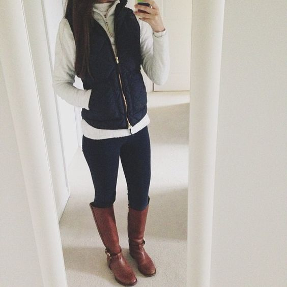 Vest and riding boots outfit for a day off!
