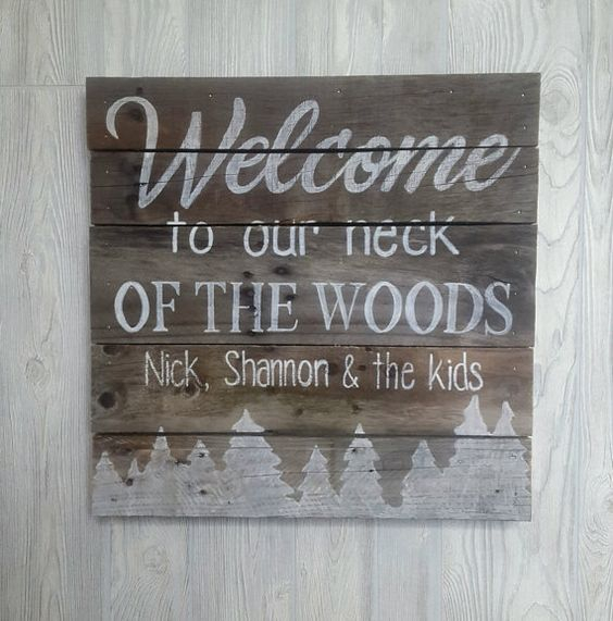 Hand Painted Wood Pallet Sign  Cabin Sign by SignatureStatement