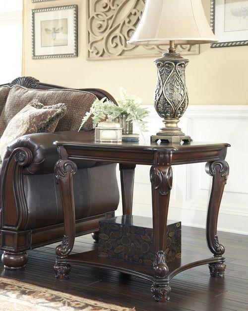 Norcastle Dark Brown Square End Table Meuble Meuble Simple Petite Table Basse