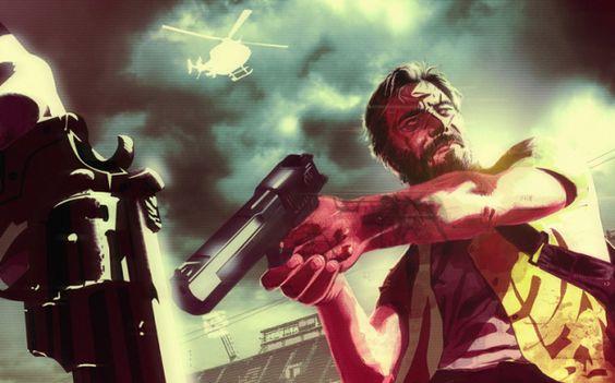 Max Payne at the stadium #maxpayne #maxpayne3 #rockstargames #videogames #fanart