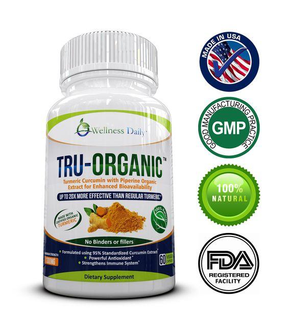 TRU-ORGANIC: Advanced Strength (1300mg) Premium Organic Turmeric Curcumin