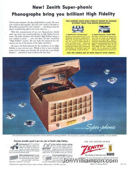 Zenith Phonograph 1954