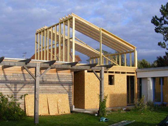 Construction du0027une extension à ossature bois de 20m2 à Aix-en - extension maison bois 20m2