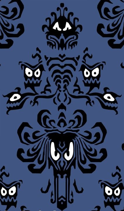 Haunted mansion wall paper