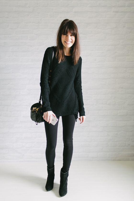 outfits negro con legins