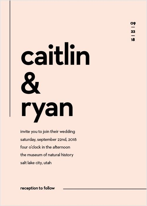 Our Minimal Type Wedding Invitations Are The Definition Of Modern Minimalism Classic Wedding Invitations Beach Wedding Invitations Wedding Invitations