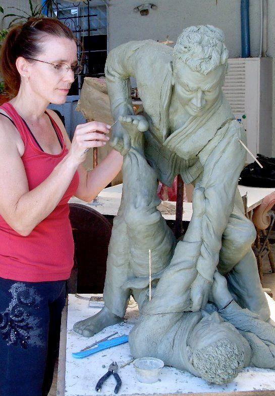 Sculpture work in process by Carol.