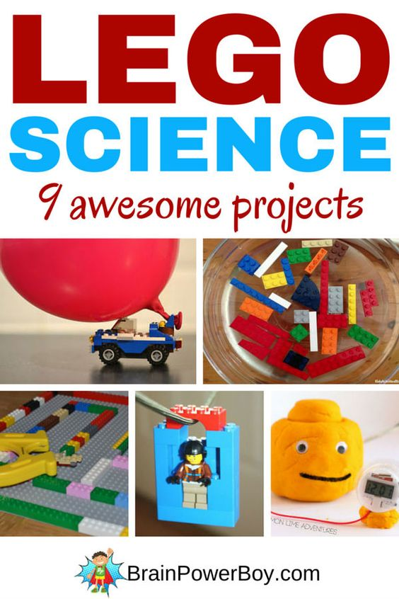 9 totally awesome LEGO Science Projects that get kids learning while they are having a ton of fun. LEGO bridge construction, magnet maze, zip line, flashlight and more.