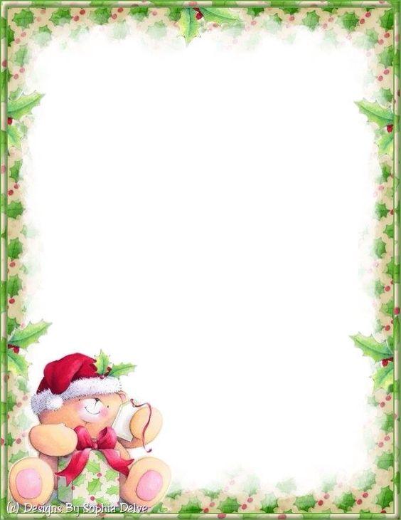 christmas letter borders free