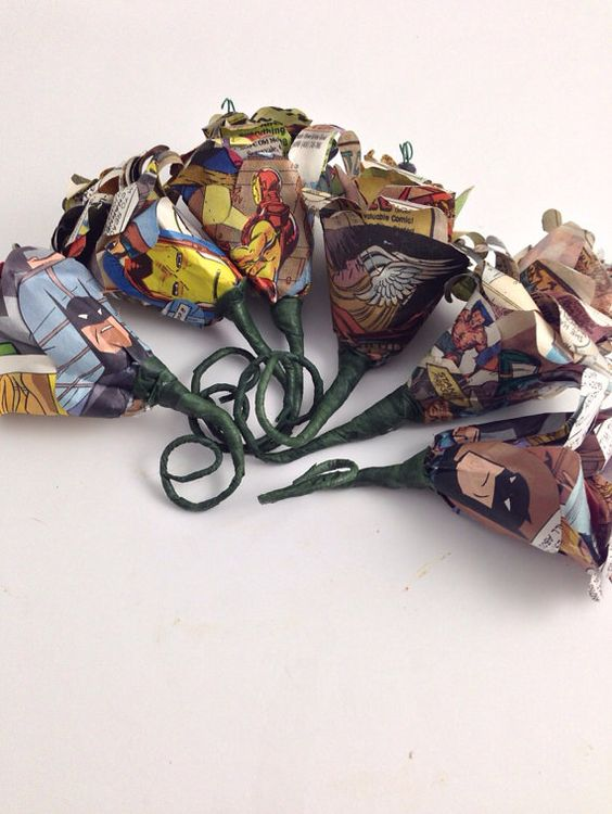 Comic Book Wedding Boutonnieres, Choose your Characters, Wedding Boutonniere   on Etsy, £8.72