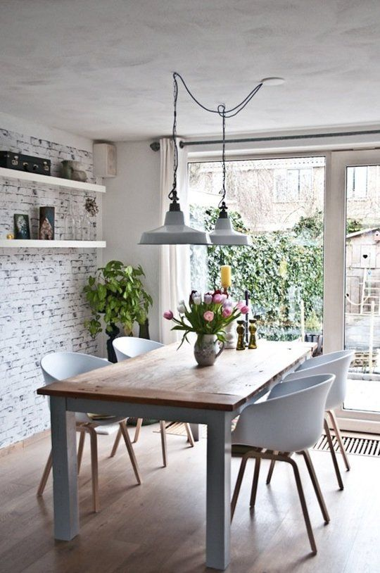 dining room lighting low ceilings | Low Ceilings, No Problem: 8 Ways to Keep Not-So-Tall Rooms ...
