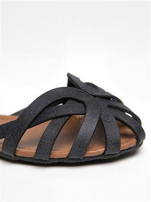 Soda YOHO Cage Ankle Strap Sandal -