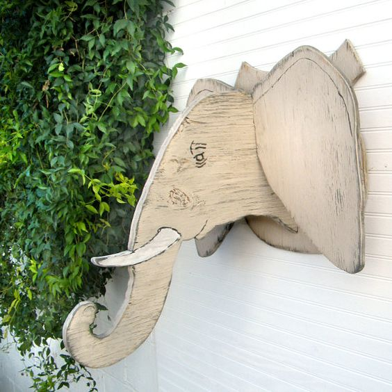 Jungle Wood Wall Decor : Wooden elephant kids room decor d wall