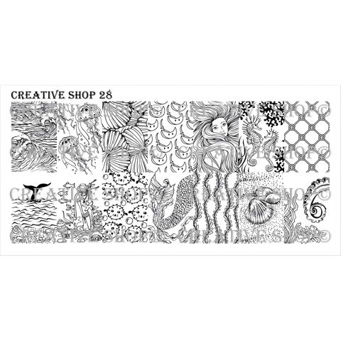 PRE-ORDER! Creative Shop- Stamping Plate- 28