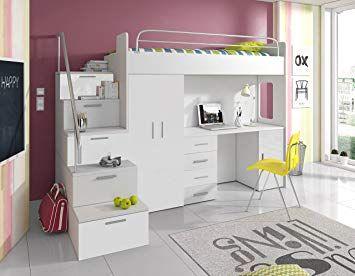 Kinderbett Mit Schreibtisch