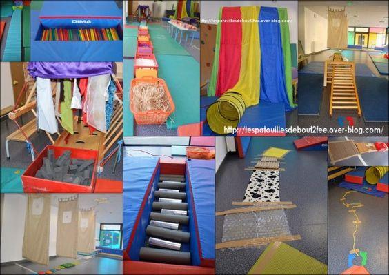 De idées de parcours sensoriels pour la classe ou pour la maison !