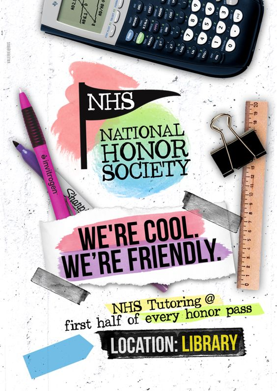 National Honor Society (NHS) Poster by Valerie Trisnadi, via Behance