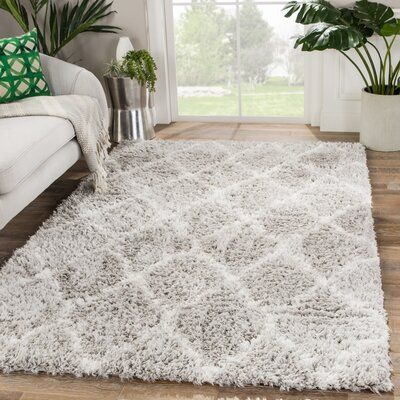 Charlton Home Ackermann Trellis Grey Area Rug Rug Size Rectangle 8 10 Quot X 12 In 2020 Room Rugs Rugs On Carpet Rugs In Living Room