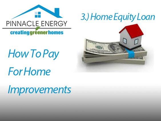 Another way to fund your project is to take out a Home Equity Loan. These mortgages offer the tax benefits of conventional mortgages without the closing costs. You get the entire loan up front and pay it off over 15 to 30 years. And because the interest usually is fixed, monthly payments are easy to budget. The drawback: Rates tend to be slightly higher than those for conventional mortgages.