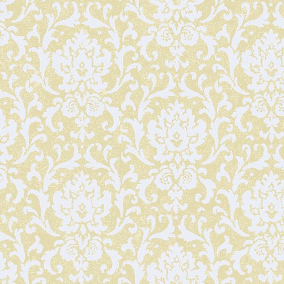 Cream vintage damask wallpaper wall sticker outlet for Cream wallpaper for walls