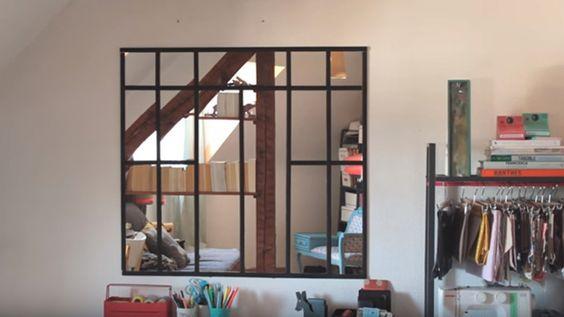 Fabriquer une verri re d 39 int rieur en miroirs interieur - Fabriquer une verriere en bois ...