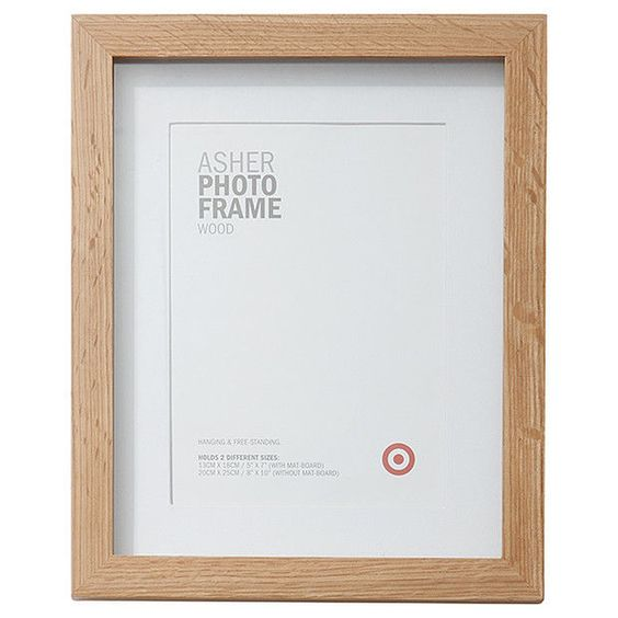 NEW Photo Frame Asher Wooden 13 x 18cm White Photo Holder Photo Frames