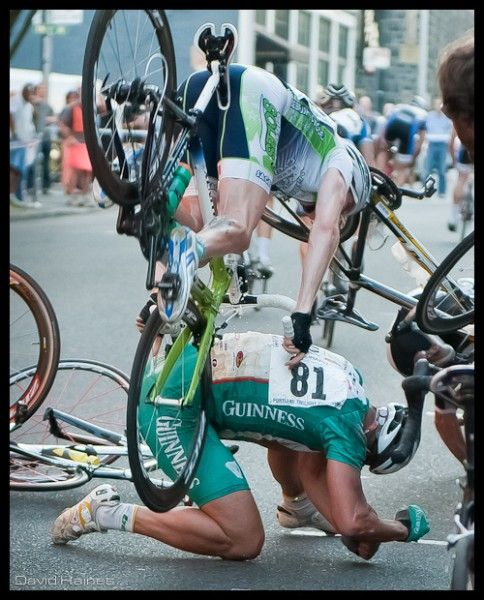 Beastly cycling crash, what an awesome action photo.