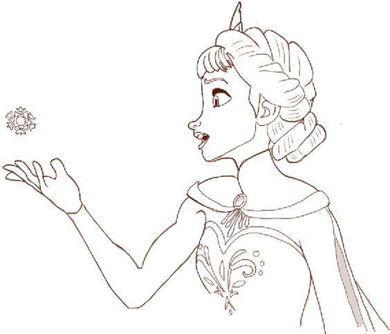 Elsa comment dessiner and dessiner on pinterest - Comment dessiner elsa ...