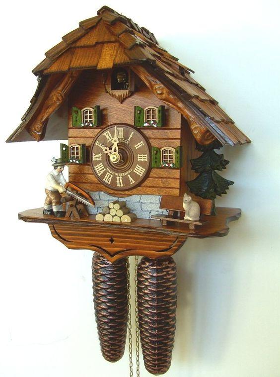 Cuckoo kingdom inc anton schneider cuckoo clock wood sawyer model pinterest models - Cuckoo clock plans ...