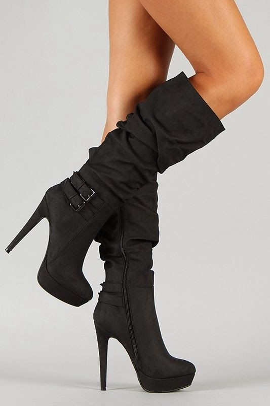 Slouchy High Heel Buckle Shoes Tekbuk | Tekbuk