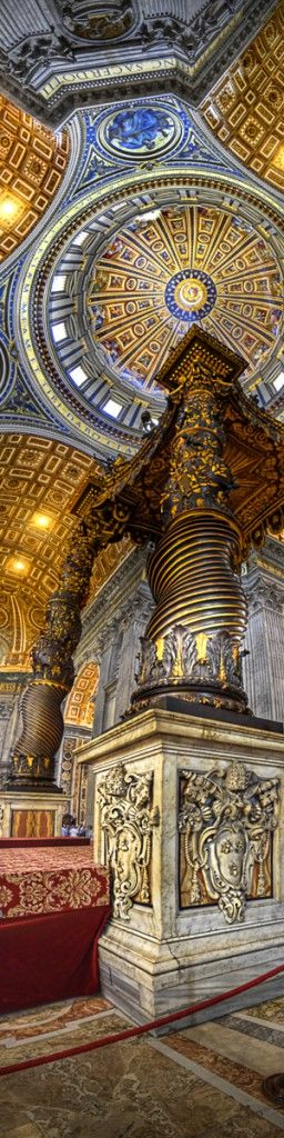 Michelangelo's Dome - St. Peter's Basilica, Vatican.    Was present at Christmas midnight Mass with the now St. John Paul II presiding.