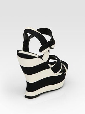Striped wedge from Alice & Olivia. I'd wear these on a cruise.
