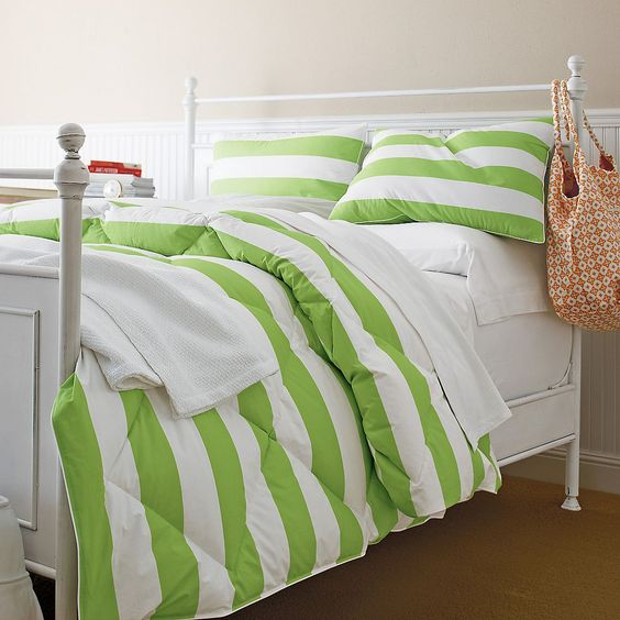 St. Tropez Cabana Stripe Lightweight Down Free Comforter / Duvet | The Company Store