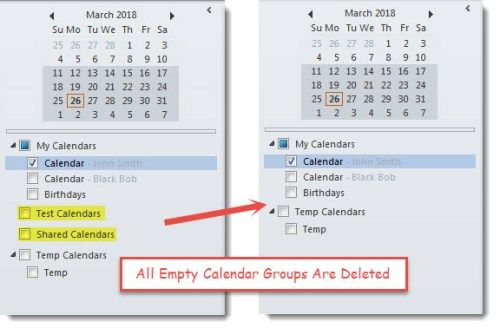 How To Batch Delete All Empty Calendar Groups In Your Outlook