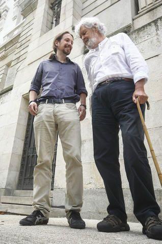 Pablo Iglesias y Xosé Manuel Beiras.
