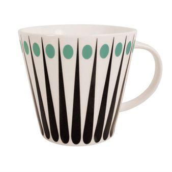 Amanda tea mug - white-aqua - Superliving
