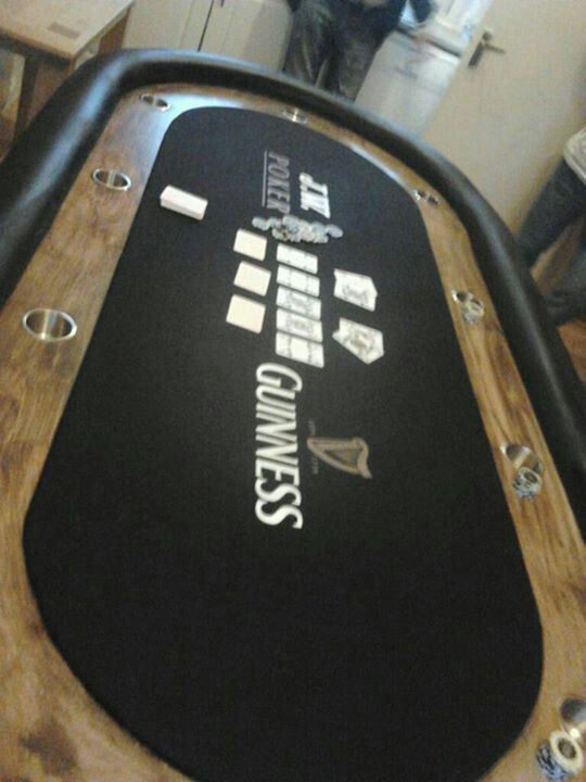 Custom poker table guinness