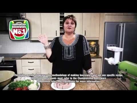 How to Make Traditional Boerewors in 5 Easy Steps | with Jenny Morris - YouTube