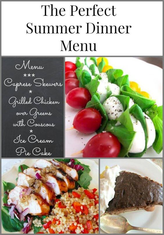 Dinner menu dinner and summer on pinterest for Dinner party menus and recipes